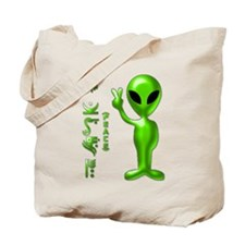 Alien Peace Dudes 9 Tote Bag