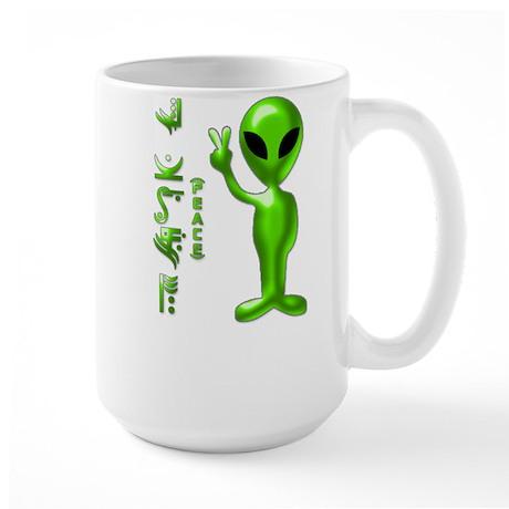 Alien Peace Dudes 9 Large Mug
