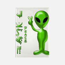 Alien Peace Dudes 9 Rectangle Magnet