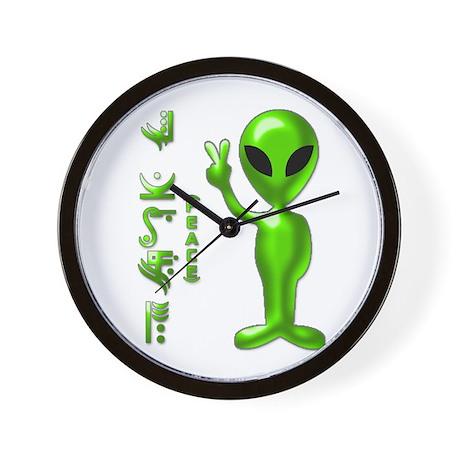 Alien Peace Dudes 9 Wall Clock