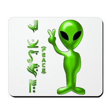 Alien Peace Dudes 9 Mousepad