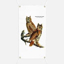 Audubon Great Horned Owls Banner