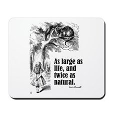 "Carroll ""Large as Life"" Mousepad"