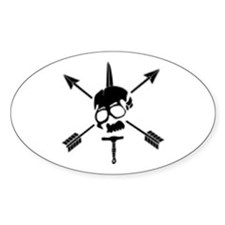 Special Forces Skull Oval Decal