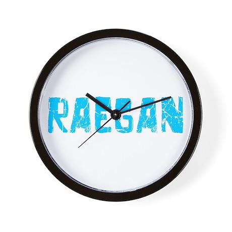 Raegan Faded (Blue) Wall Clock
