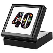 40th birthday Keepsake Box