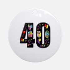 40th birthday Ornament (Round)