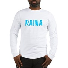 Raina Faded (Blue) Long Sleeve T-Shirt