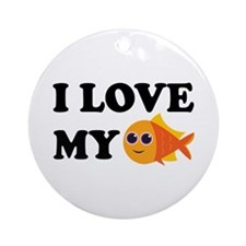 Pet Goldfish Ornament (Round)