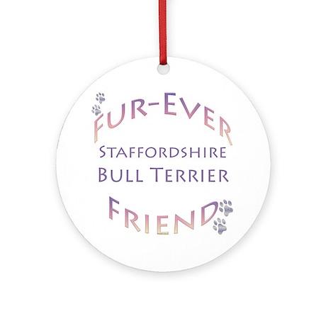 Staffy Furever Ornament (Round)