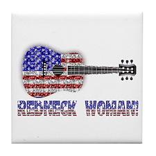 REDNECK WOMAN! Tile Coaster
