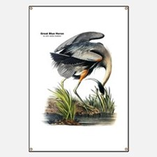 Audobon Great Blue Heron Banner