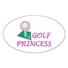 Golf Princess Oval Decal