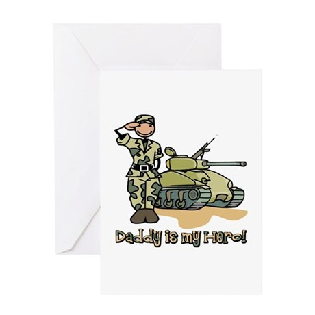 Daddy is my hero! Greeting Card