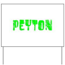 Peyton Faded (Green) Yard Sign