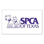 SPCA of Texas Rectangle Sticker 50 pk)