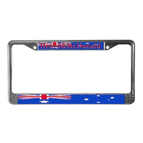 Heard & McDonald Flag License Plate Frame
