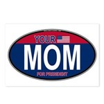 Your Mom for President (Oval) Postcards (Package o
