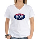 Your Mom for President (Oval) Women's V-Neck T-Shi