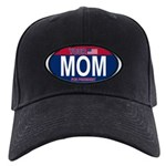 Your Mom for President (Oval) Black Cap