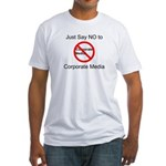 No Corporate Media Fitted T-Shirt