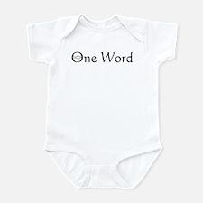 One Word Infant Creeper