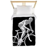 Bicycle Racing Abstract Silhouette Print Twin Duve