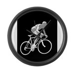 Bicycle Racing Abstract Silhouette Print Large Wal
