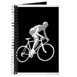 Bicycle Racing Abstract Silhouette Print Journal