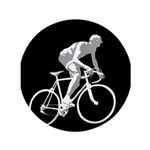Bicycle Racing Abstract Silhouette Print Button