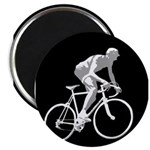 Bicycle Racing Abstract Silhouette Print Magnets