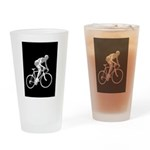 Bicycle Racing Abstract Silhouette Print Drinking
