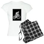 Bicycle Racing Abstract Silhouette Print Pajamas