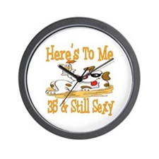 Cheers on 35th Wall Clock