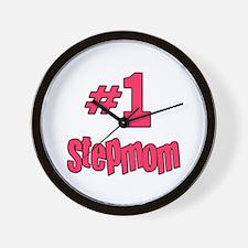 #1 Stepmom Wall Clock