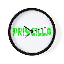 Priscilla Faded (Green) Wall Clock