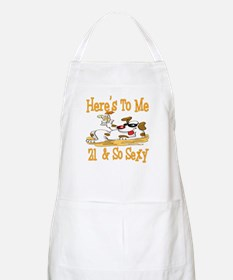 Cheers on 21st BBQ Apron