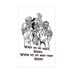 What Zombies Want Rectangle Decal