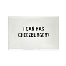 I can has cheezburger? Rectangle Magnet