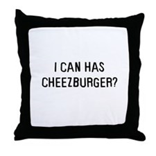 I can has cheezburger? Throw Pillow