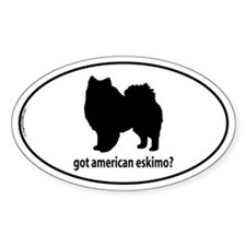 Got American Eskimo? Oval Decal