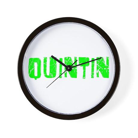 Quintin Faded (Green) Wall Clock