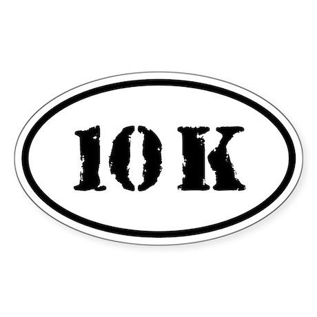 10 K Oval Sticker