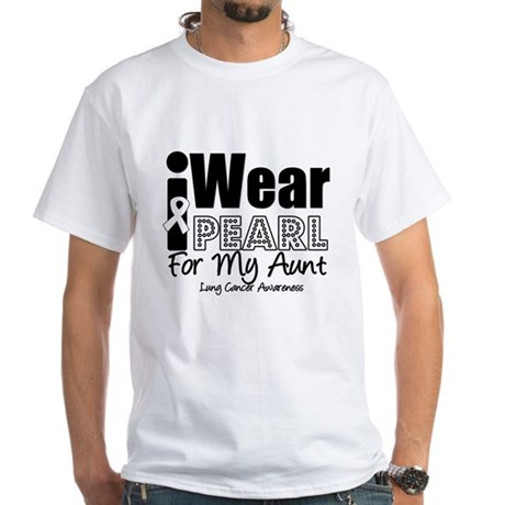I Wear Pearl For My Aunt White T-Shirt
