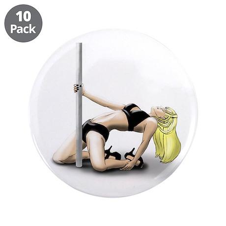 "Pole Dancer 3.5"" Button (10 pack)"