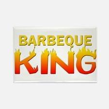 Barbeque King Rectangle Magnet