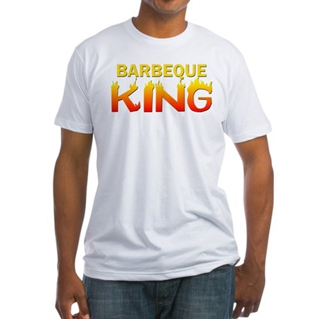 Barbeque King Fitted T-Shirt
