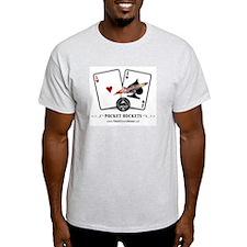 """PokerShark """"Pocket Rockets"""" Ash Grey Tee"""