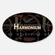 Harmonium Oval Decal