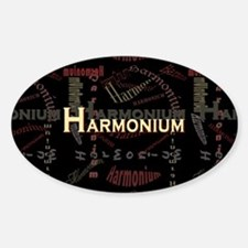 Harmonium Oval Stickers